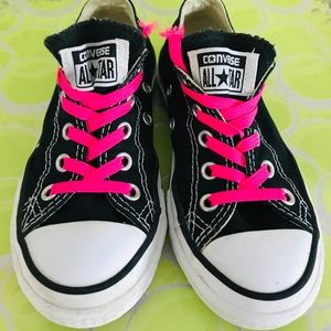 Converse black and white all stars youth size 11
